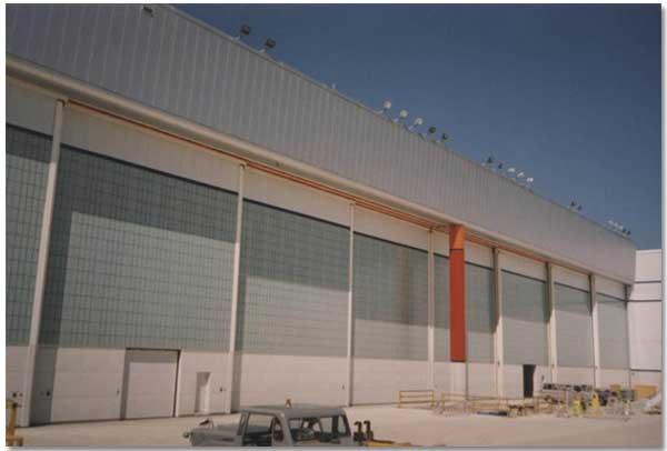 Hangar Doors Bottom Rolling Top Guided Hangar Doors