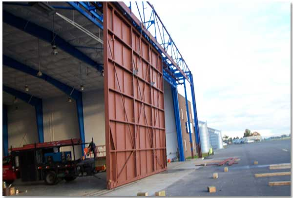 Hangar Doors Bottom Rolling Top Guided Hangar Doors