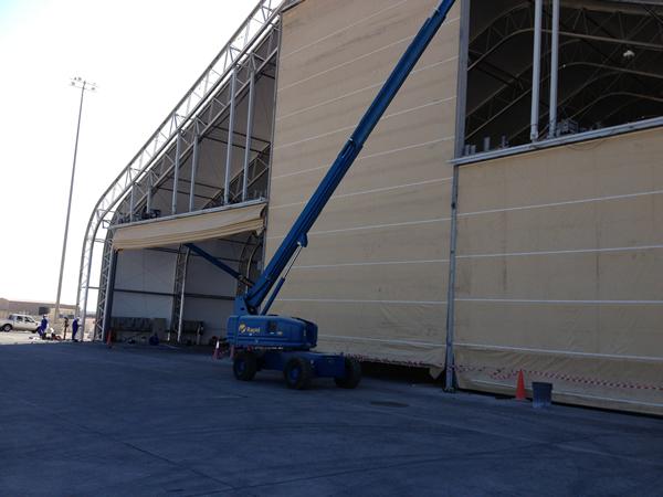 Applications & hoist up fabric doors Parthenon doors and high speed fabric doors ...