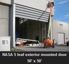 NASA 4 leaf exterior mounted door 50' x 50'